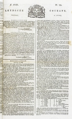 Leydse Courant 1843-06-16