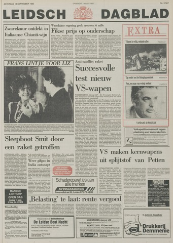 Leidsch Dagblad 1985-09-14