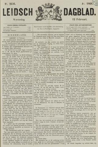 Leidsch Dagblad 1868-02-12