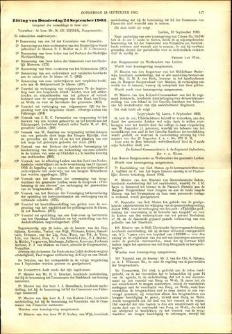 Handelingen van de Raad 1903-09-24