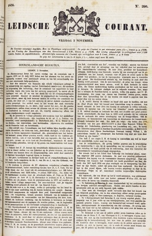 Leydse Courant 1876-11-03