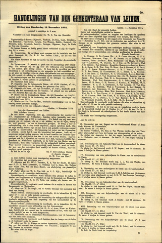 Handelingen van de Raad 1874-11-12