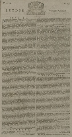 Leydse Courant 1739-11-27