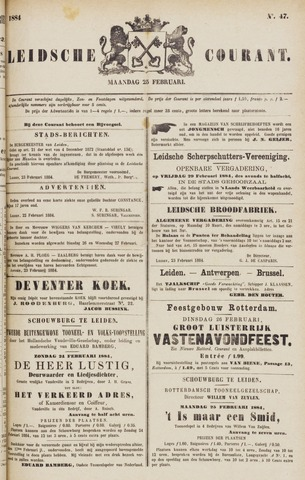 Leydse Courant 1884-02-25
