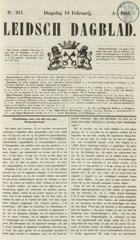 Leidsch Dagblad 1863-02-10