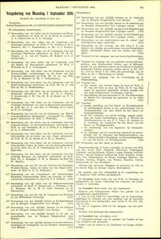 Handelingen van de Raad 1936-09-07
