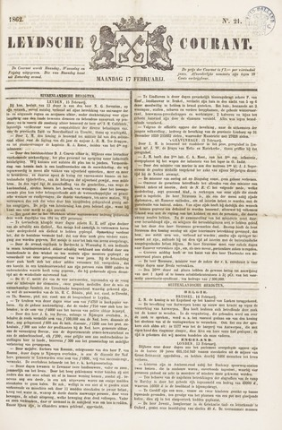 Leydse Courant 1862-02-17