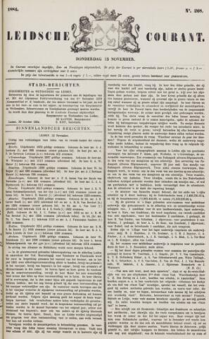 Leydse Courant 1884-11-13