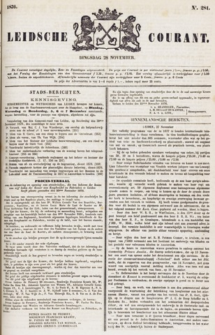 Leydse Courant 1876-11-28