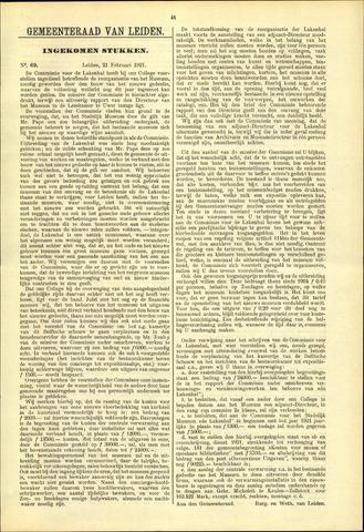 Handelingen van de Raad 1921-02-21