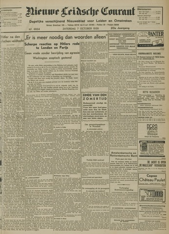 Nieuwe Leidsche Courant 1939-10-07