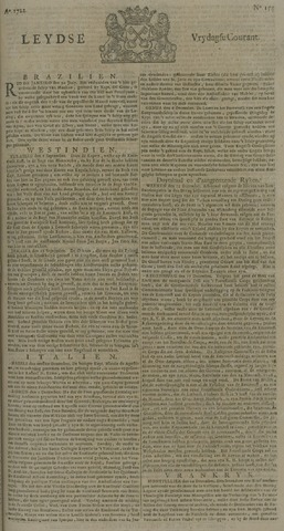 Leydse Courant 1722-12-25