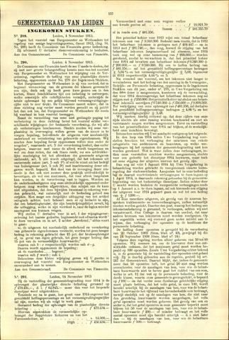 Handelingen van de Raad 1913-11-04
