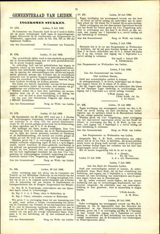 Handelingen van de Raad 1906-07-09
