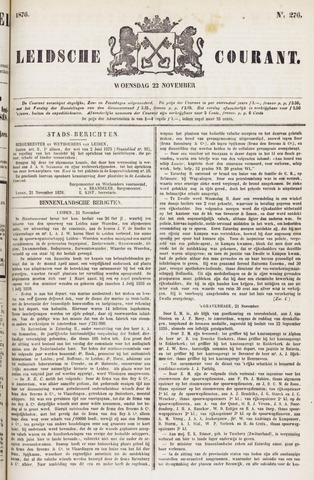 Leydse Courant 1876-11-22
