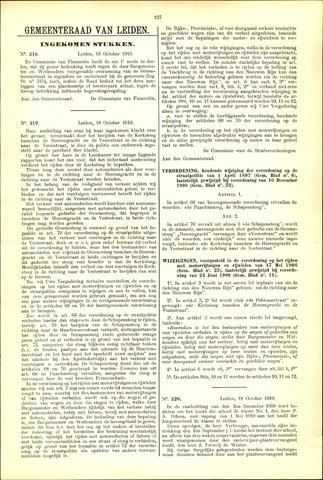 Handelingen van de Raad 1910-10-18