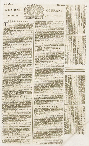 Leydse Courant 1822-11-27