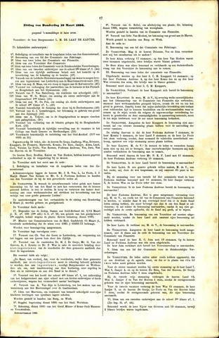Handelingen van de Raad 1886-03-18