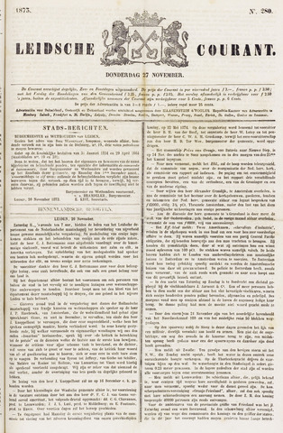 Leydse Courant 1873-11-27