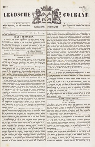 Leydse Courant 1865-02-01