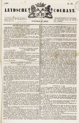 Leydse Courant 1869-04-28