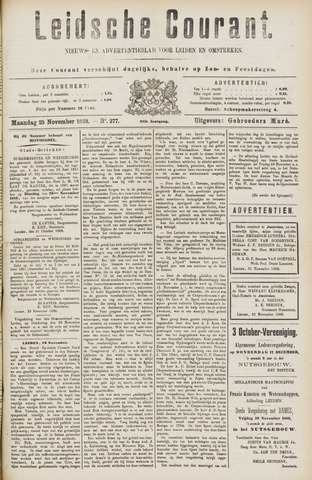 Leydse Courant 1889-11-25
