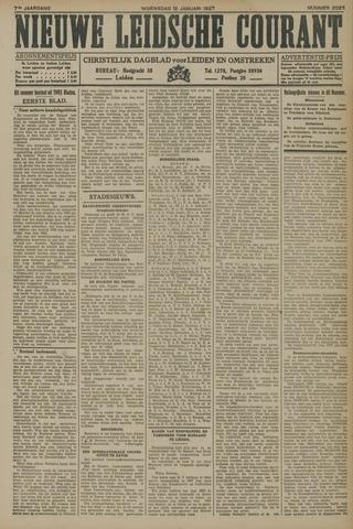 Nieuwe Leidsche Courant 1927-01-12