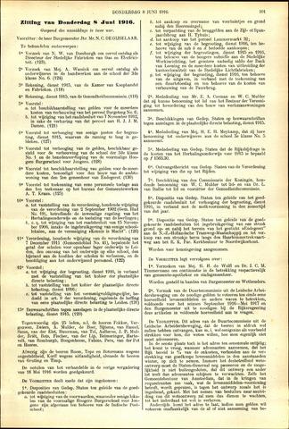 Handelingen van de Raad 1916-06-08