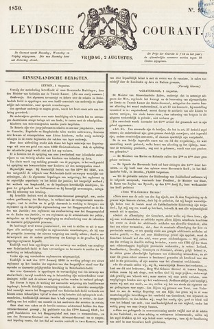 Leydse Courant 1850-08-02