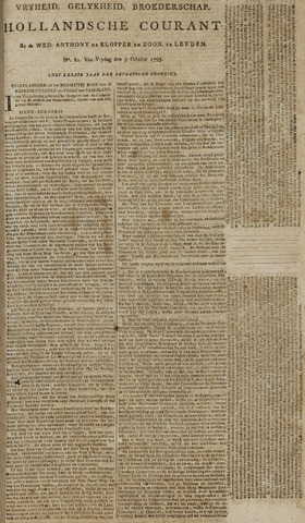 Leydse Courant 1795-10-09