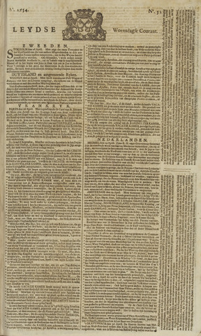 Leydse Courant 1754-05-01