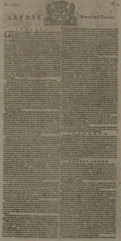 Leydse Courant 1744-01-08