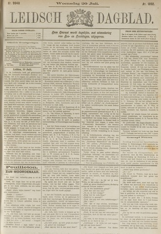 Leidsch Dagblad 1892-07-20