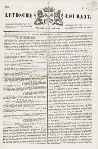 Leydse Courant 1865-01-18
