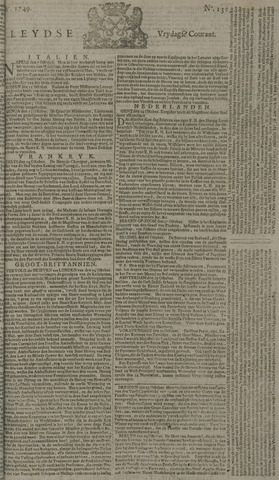 Leydse Courant 1749-10-31