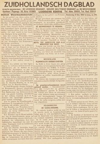 Zuidhollandsch Dagblad 1944-10-12