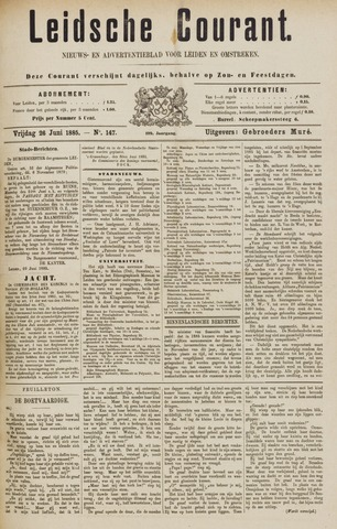 Leydse Courant 1885-06-26