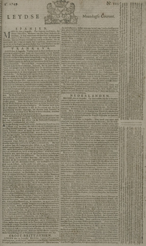 Leydse Courant 1749-08-25