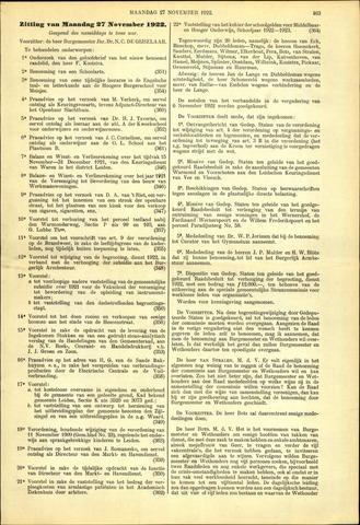 Handelingen van de Raad 1922-11-27