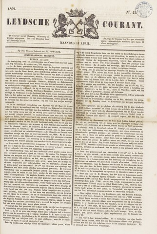 Leydse Courant 1862-04-14