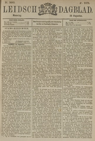 Leidsch Dagblad 1878-08-26