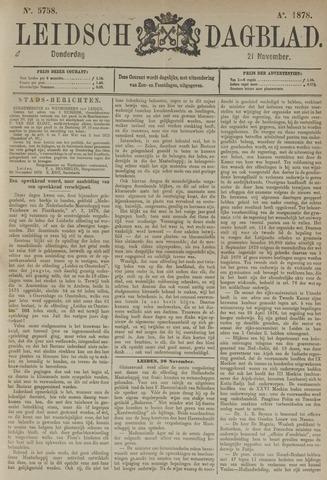 Leidsch Dagblad 1878-11-21