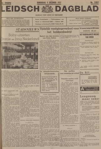 Leidsch Dagblad 1937-12-09
