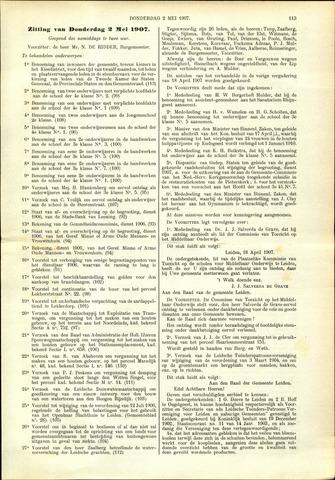 Handelingen van de Raad 1907-05-02