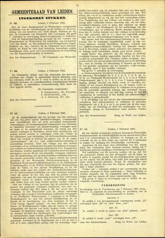 Handelingen van de Raad 1922-02-04