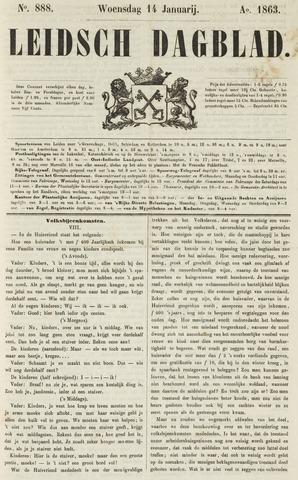 Leidsch Dagblad 1863-01-14
