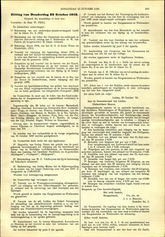 Handelingen van de Raad 1919-10-23