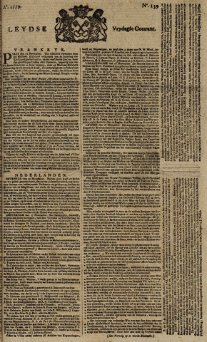 Leydse Courant 1779-11-19