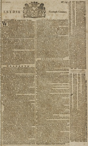 Leydse Courant 1771-11-29