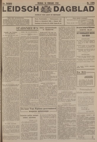Leidsch Dagblad 1938-02-18